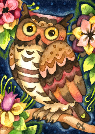 Two new owls Hoot Garden and Not Afraid of the Dark Carmen Medlin