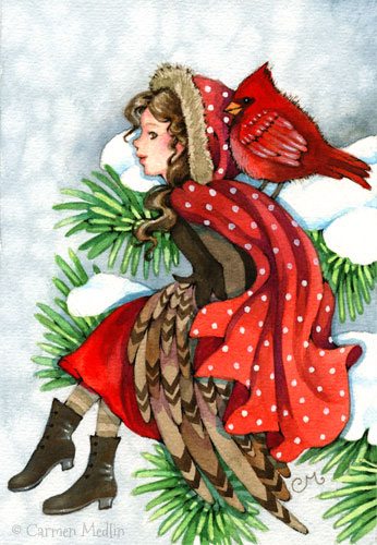 Winter Friends original painting