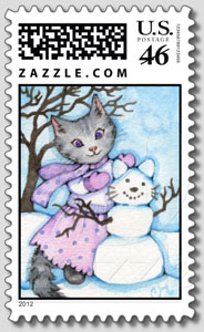 Making a Snow Cat - Postage