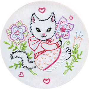Hoodie Kitten embroidery pattern