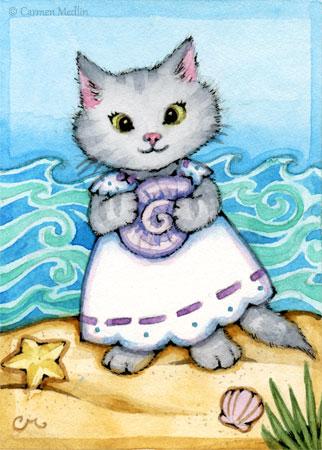 On the Seashore cat