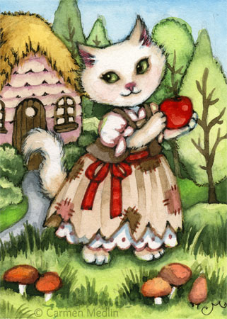 Snow White's Apple kitty painting