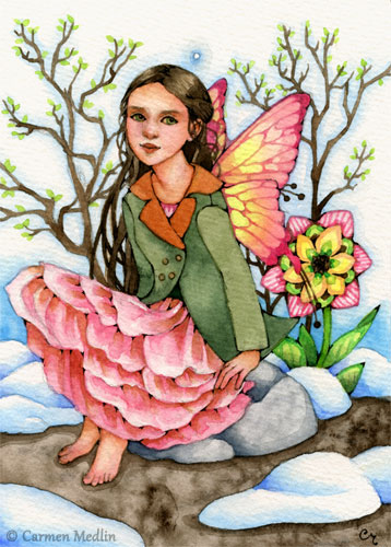 Blush of Spring fairies art