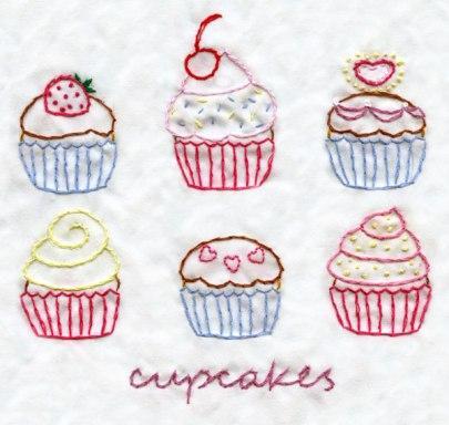 Cute Cupcakes PDF stitching pattern