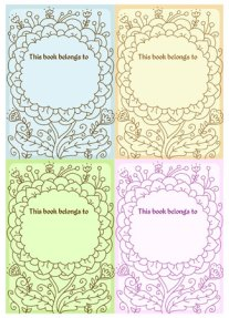 Flower Bookplates