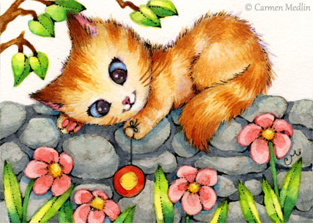 Yo Yo Kittty cute cat illustration