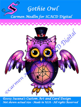 Goth Owl cute creative journaling