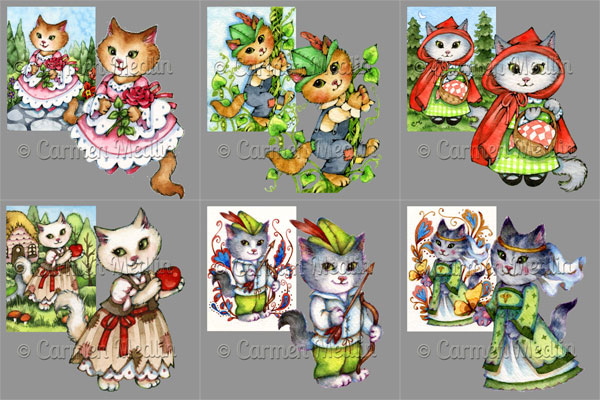 Fairytale Cats PSP art tubes