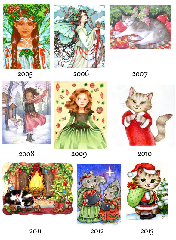 Christmas collage art
