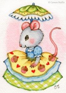 Cupcake Belle cute mouse art