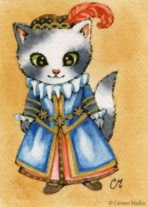 Elizabethan Kitty cute cat art