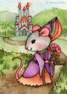 Mouse Princess cute fantasy art
