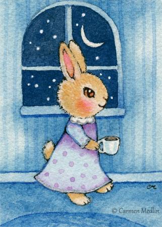 Bedtime Bunny cute rabbit art