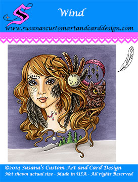 Elementals Collection SCACD rubber stamps Carmen Medlin
