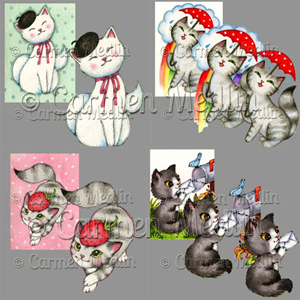 Whimsy Cats Art PSP Tubes