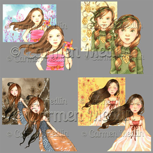 Whimsy Girls Art PSP Tubes