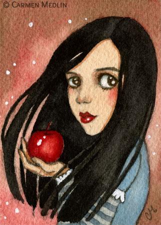 Bad Apple Snow White fairytale art Carmen Medlin
