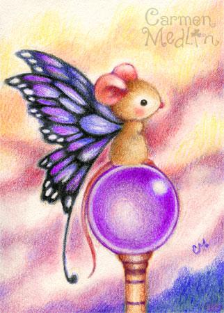 Fairy Mouse - fantasy art by Carmen Medlin