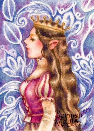 Elven Princess fantasy art by Carmen Medlin