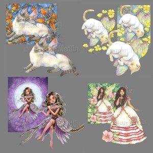 Fairy Creatures PSP tube pack Carmen Medlin