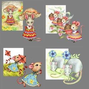 Mice Set 2 PSP tube pack Carmen Medlin
