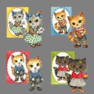 Retro Cats PSP tube pack Carmen Medlin