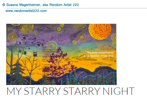 Starry Starry Night by Susana Magenheimer, aka Random Artist 222. Mixed media collage.
