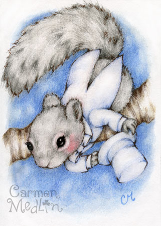 The Showman - squirrel art Carmen Medlin