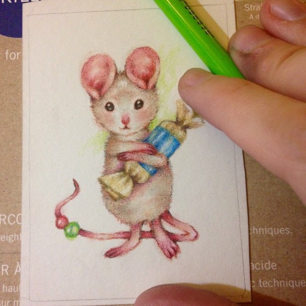 Work in progress mouse drawing Carmen Medlin
