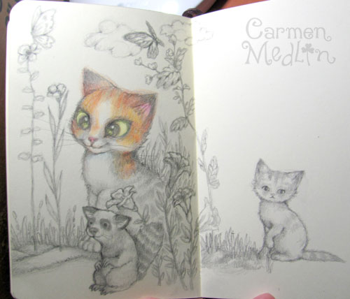 Pencil sketchbook Carmen Medlin