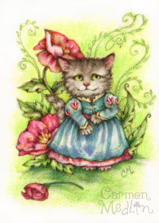Gentle Lady - cat art Carmen Medlin