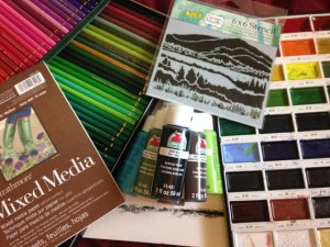 art materials mixed media Crafters Workshop stencils