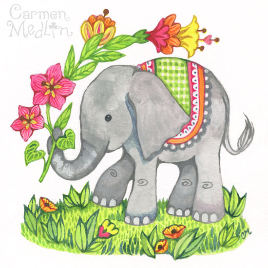 Baby Elephant by Carmen Medlin