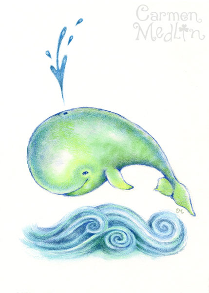 Happy Little Whale by Carmen Medlin