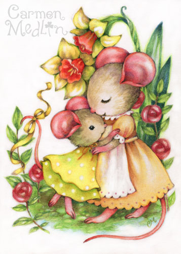 You Are Loved mouse art by Carmen Medlin