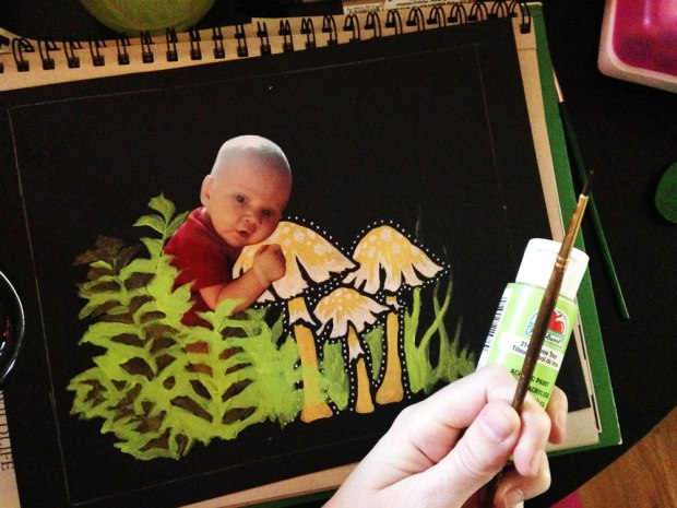 baby fairy tutorial mixed media photo crafter's workshop medlin