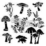 whimsical shrooms tcw578 carmen medlin