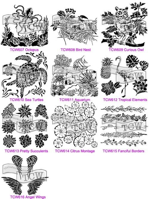 2016 The Crafter's Workshop stencils Carmen Medlin